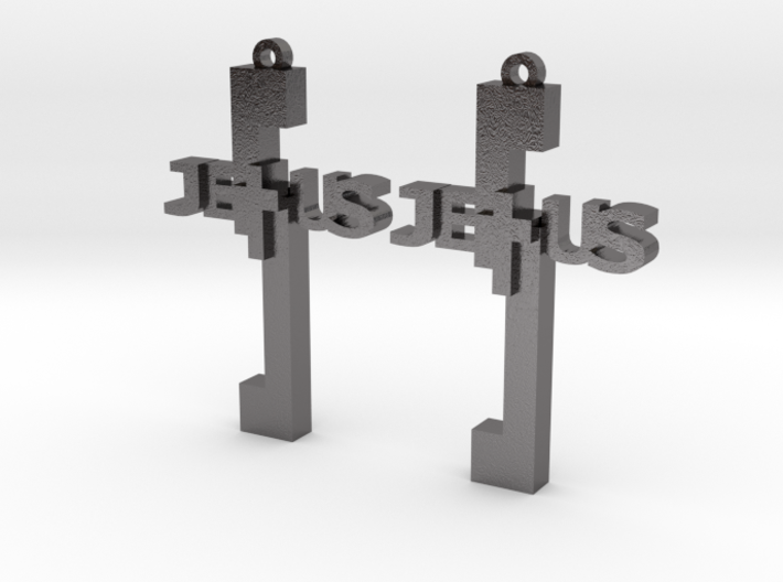 Jesus Earrings 3d printed