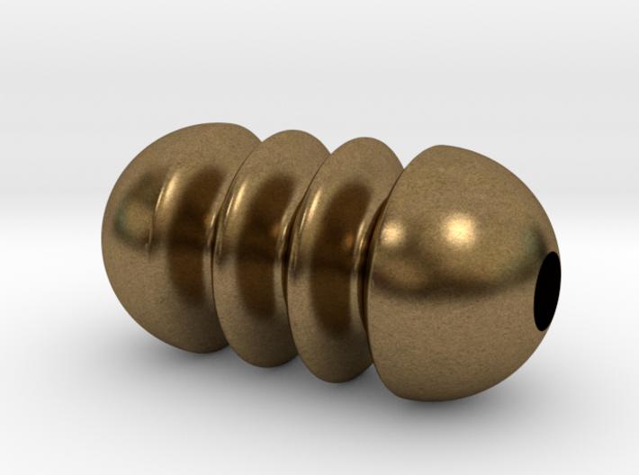 DRAW pendant - tiny ripples 3d printed