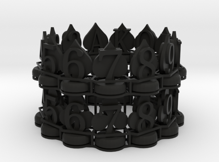 Half Card Piece Set (Spades and Clubs) for Zeugma 3d printed