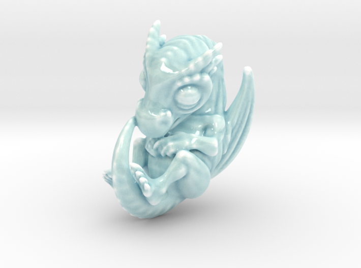 Porcelain Dragon Baby Medium 3d printed