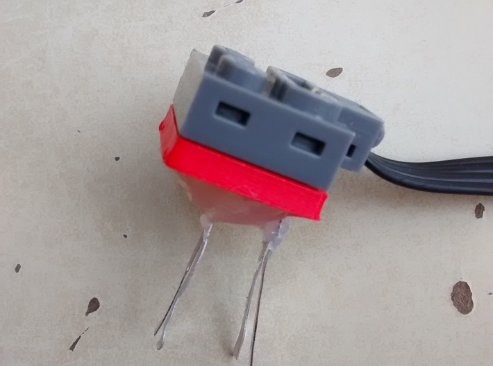 LEGO® Power Functions-compatible socket base 3d printed Snap!