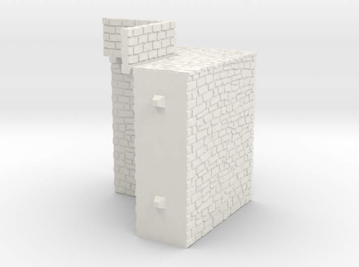 NF10 Modular fortified wall 3d printed