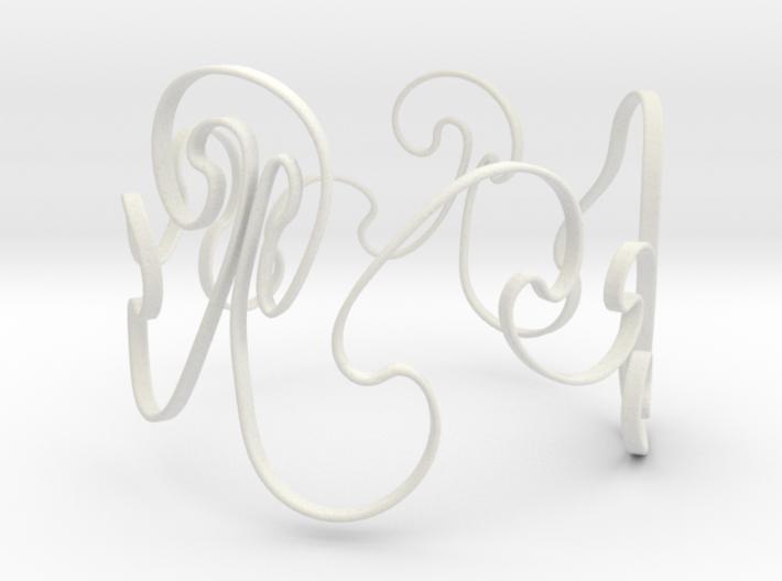 Rayleigh-Taylor Bracelet #1 - 8'' Wrist 3d printed