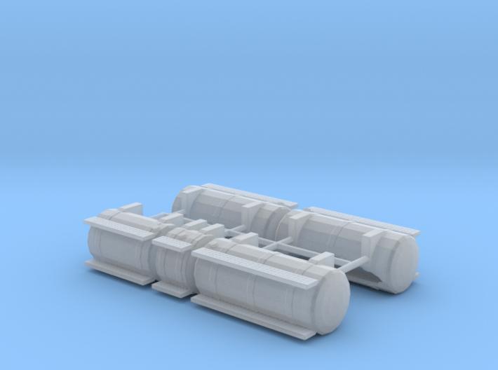 1/87th Australian Road Train Fuel Tank set 3d printed