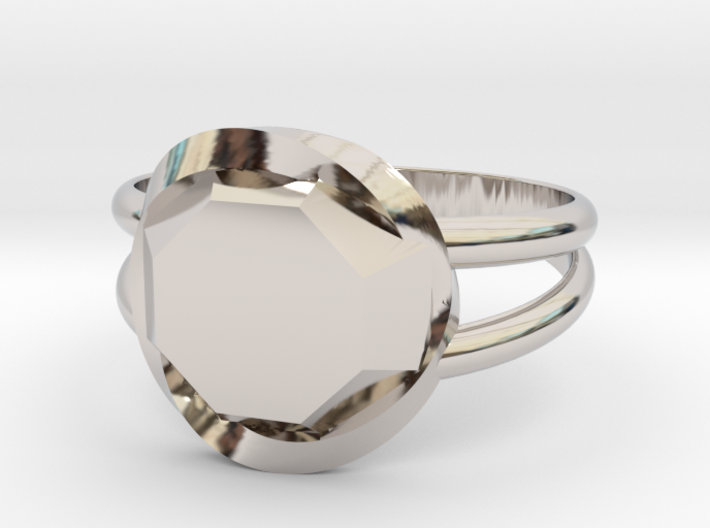 Size 6 Diamond Ring 3d printed