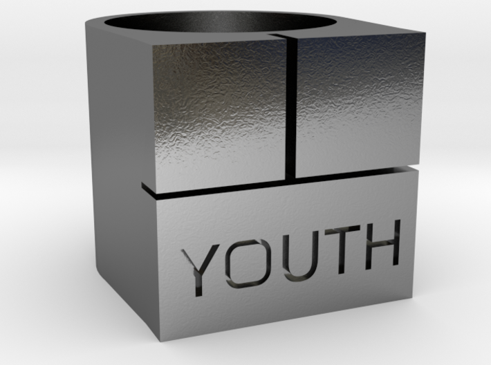 YOUTH Brick Ring - Sz. 7 3d printed