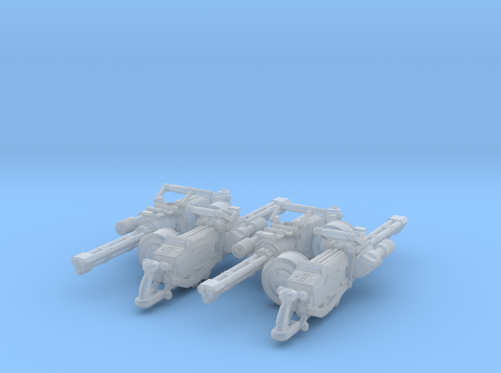 Gatline Cannon 001a Carried 4x Pack 3d printed