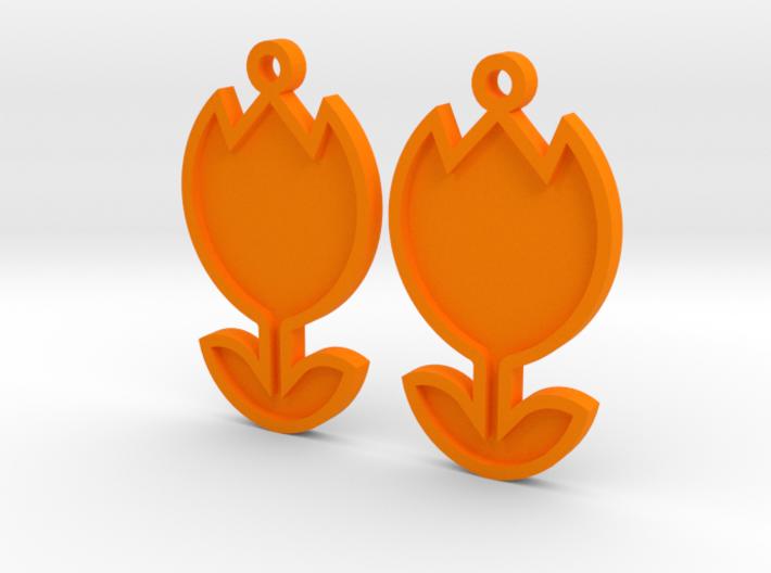 Tulip Earrings Thin 3d printed