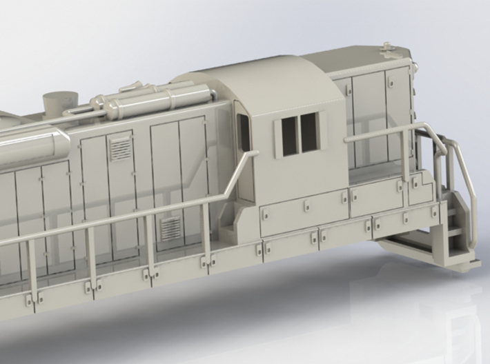 EMD SD24 OOScale WithoutFuelTank 3d printed