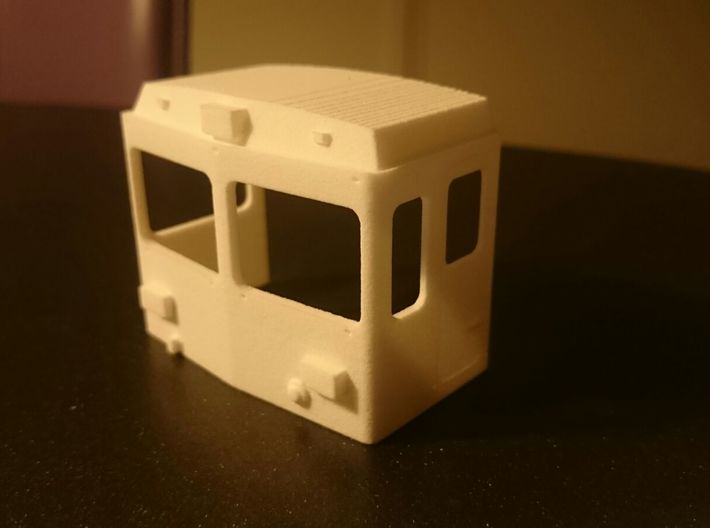Rhb 801 Refit Cab 3d printed Cab in white strong flexible