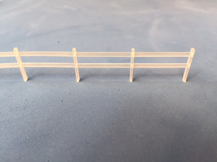 Post and rail fence kit HO Scale (10 Piece) 3d printed