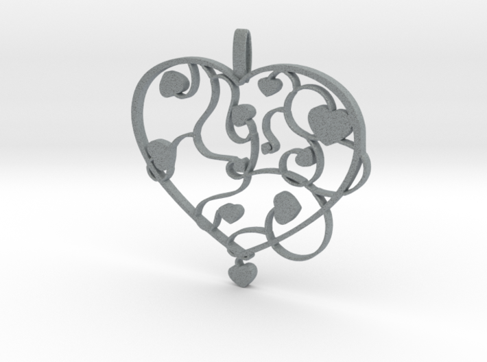 Heart jewellery 3d printed