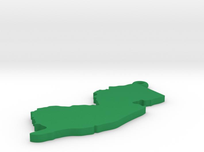 NJ Keychain / Pendant 3d printed