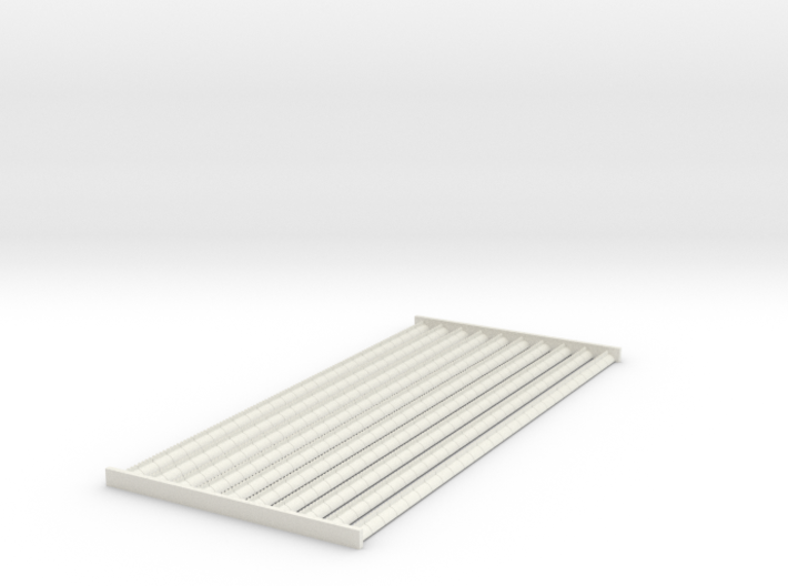 4mm Scale Ridge Tiles 'Cocks Comb Crested Ridge' 3d printed