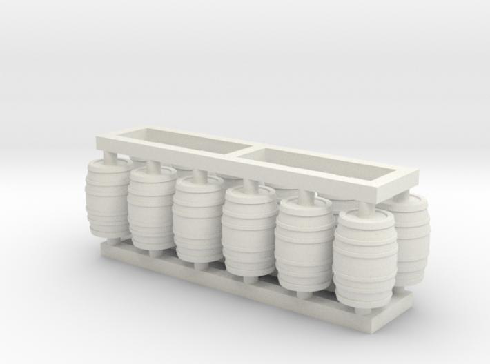 Barrel 60 Gal - HO 87:1 Scale Qty (12) 3d printed