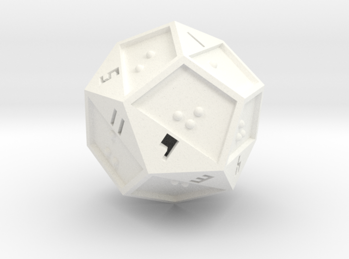 Braille D12 3d printed