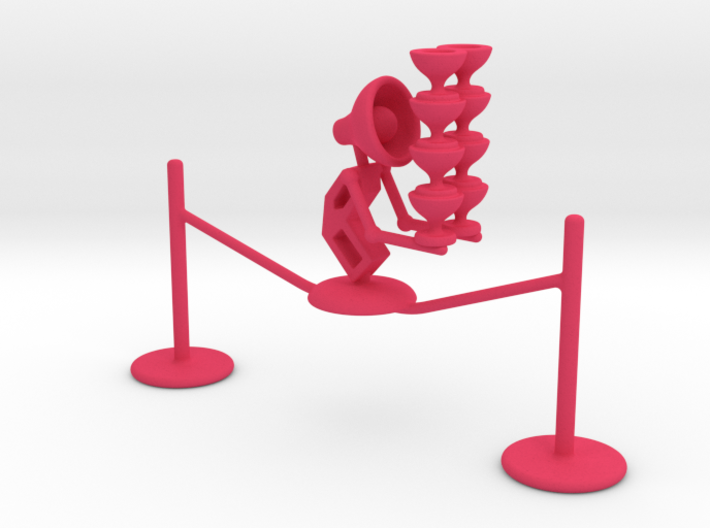"Lala ""Walking in rope & balancing wine glass"" - De 3d printed"