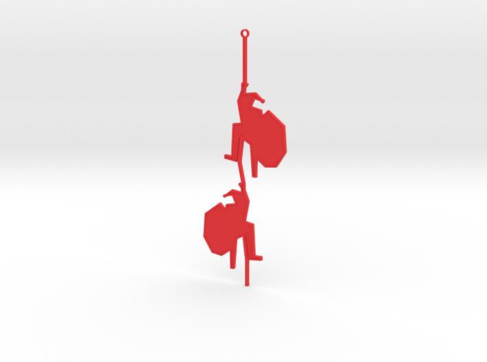 Santa Claus climbing tree 2 3d printed