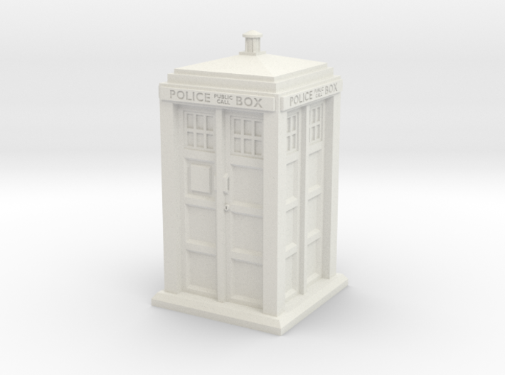 35mm/O Gauge Police Box 3d printed