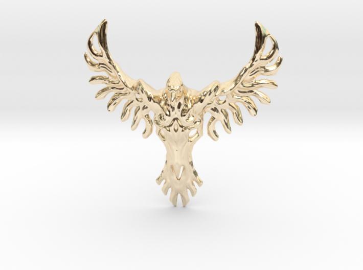 Rebirth Phoenix & Bull Skull Pendant: Small 3d printed