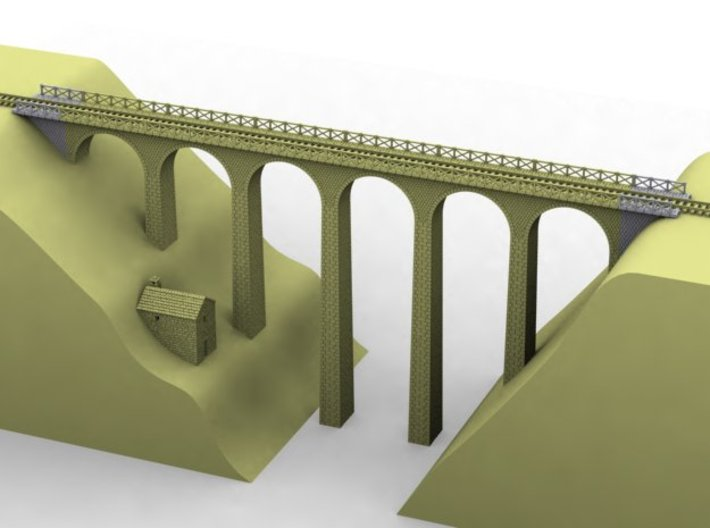 NV3M3 Small modular viaduct 1 track 3d printed