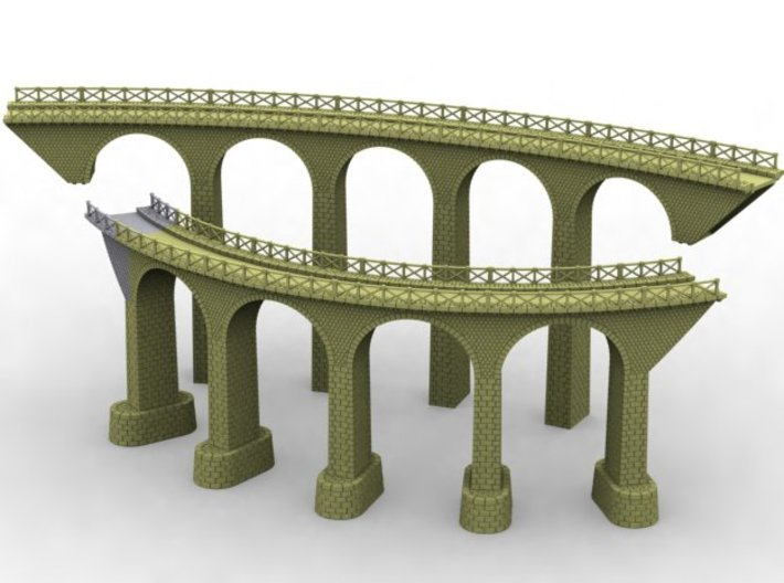 NV3M14 Small modular viaduct 1 track 3d printed