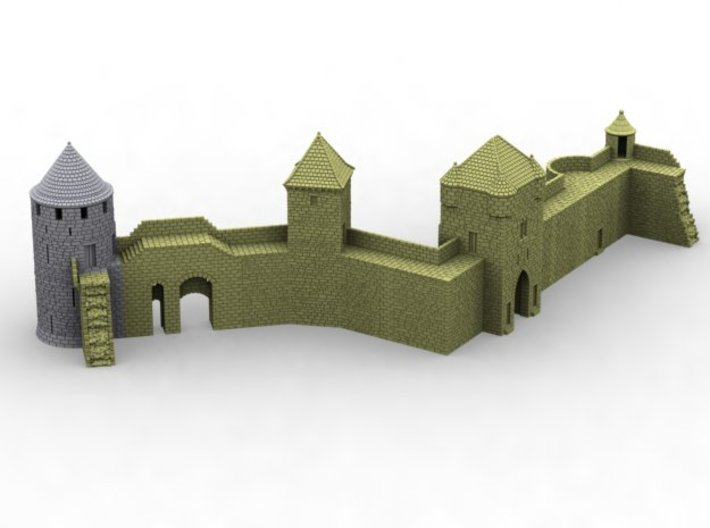 NF1 Modular fortified wall 3d printed
