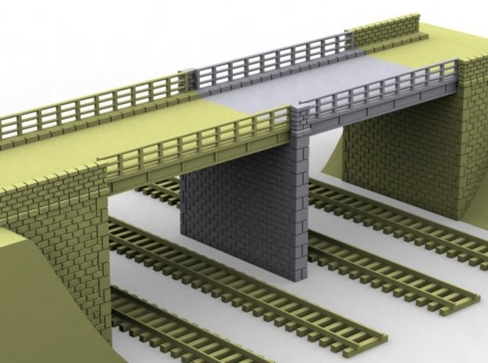 NPRT25 Road bridges over railway 3d printed