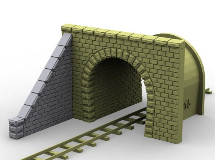 NmT31 Tunnel portal for meter gauge 3d printed