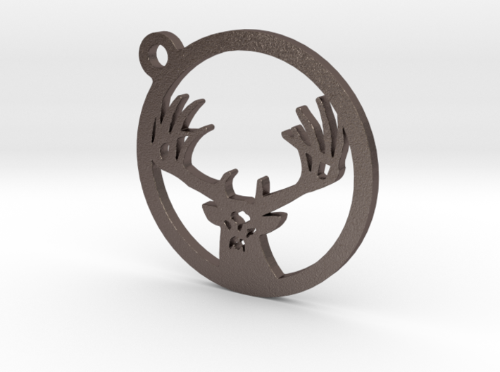 White tail keychain 1 3d printed