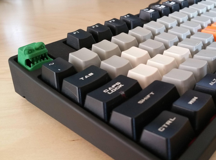 Monster Cherry MX Keycap 3d printed Monster Cherry MX Keycap in Green Strong & Flexible (Photos by prototypepacifist)