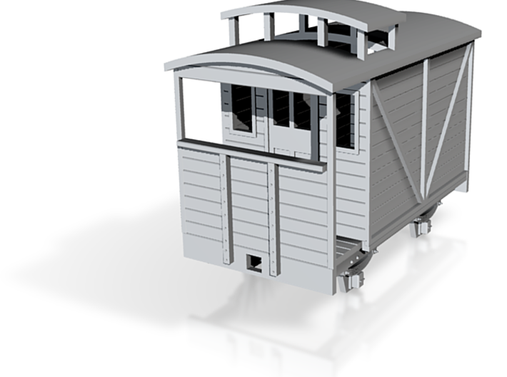 TTn3 brake van with birdcage 3d printed