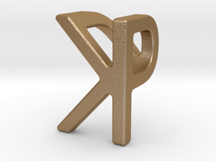 Two way letter pendant - KP PK 3d printed