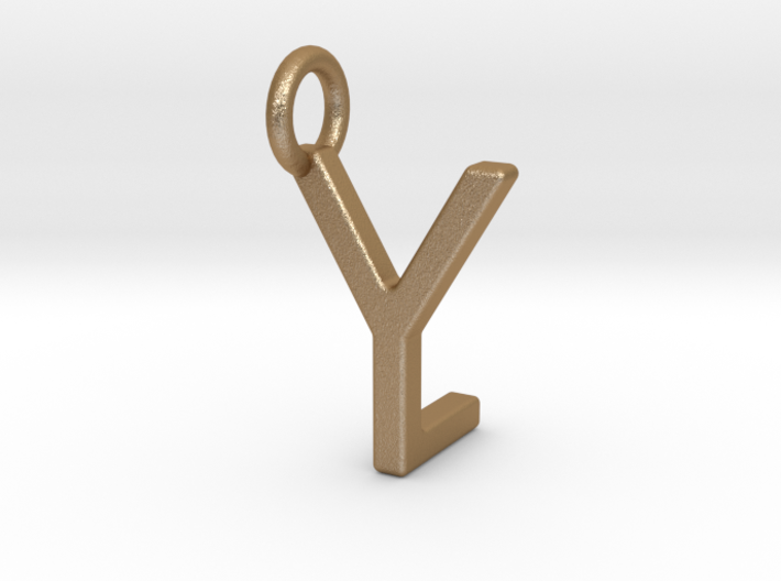 Two way letter pendant - LY YL 3d printed