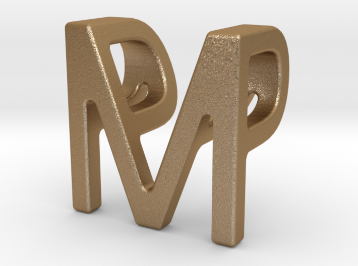 Two way letter pendant - MP PM 3d printed