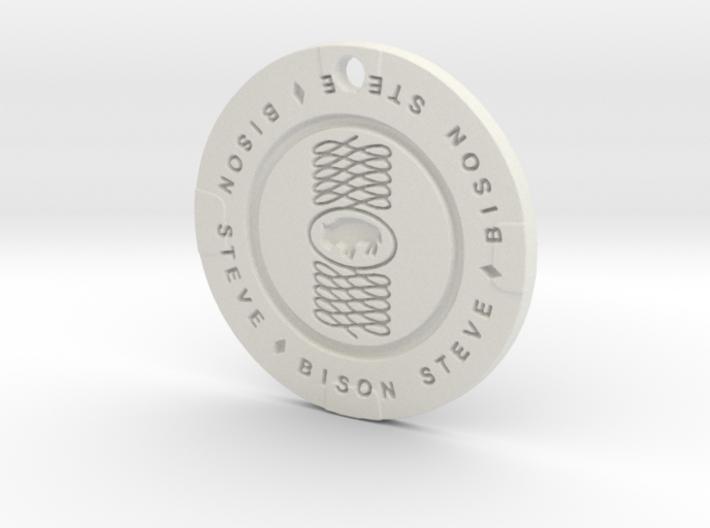 Bison Steve Chip Pendant 3d printed