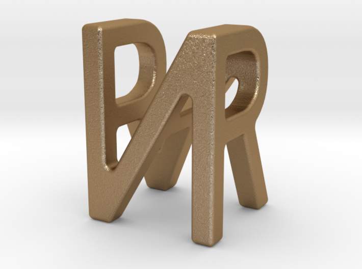 Two way letter pendant - NR RN 3d printed