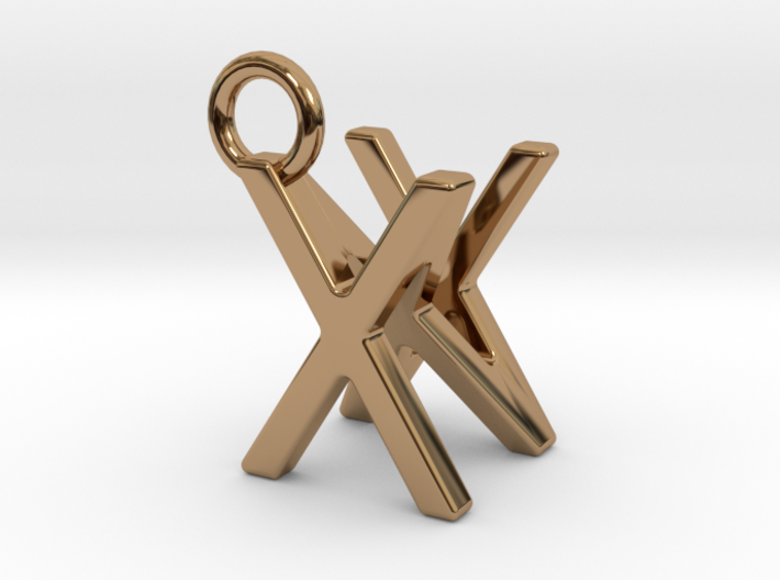 Two way letter pendant - NX XN 3d printed
