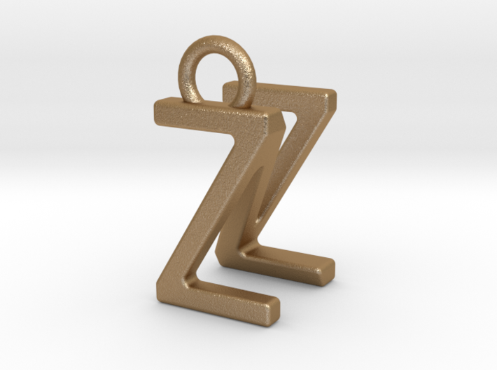 Two way letter pendant - NZ ZN 3d printed