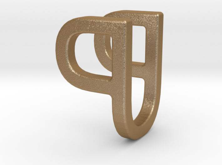 Two way letter pendant - PU UP 3d printed