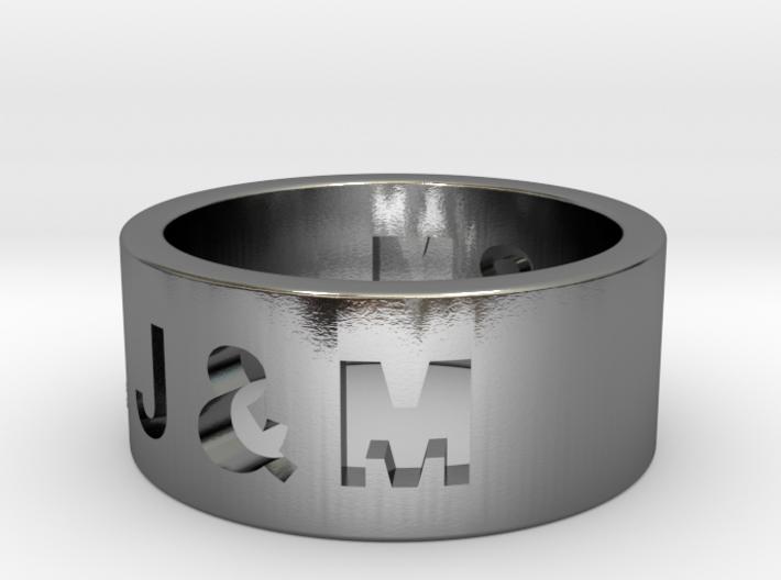 Freunschaftsring J & M 3d printed