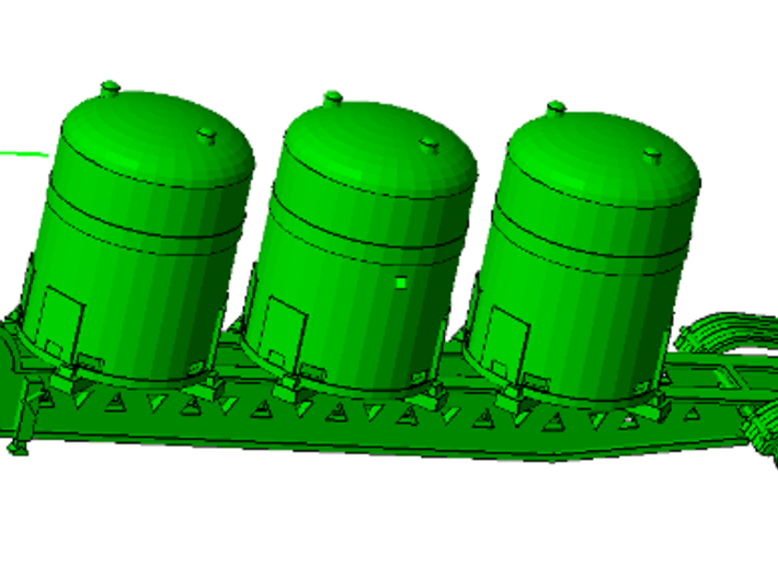 1/64th Industrial Hazardous Materials containers 3d printed