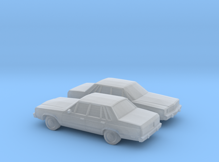 1/160 2X 1978-83 Ford Fairmont Sedan 3d printed