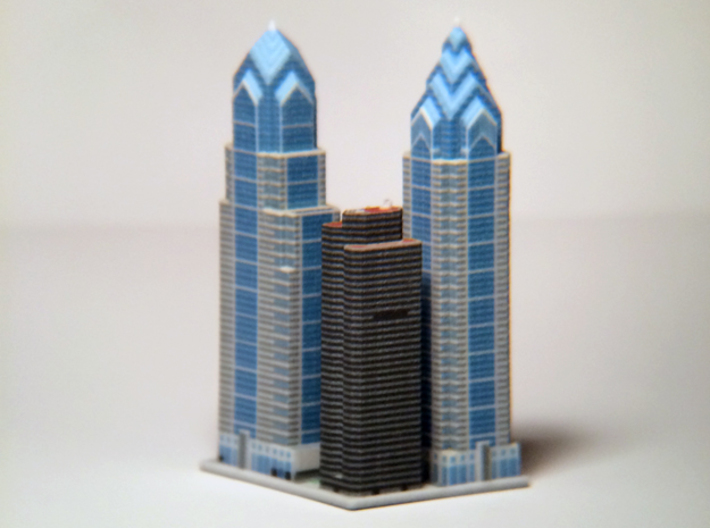 Liberty Place at 1600 Market St - Phladelphia, PA 3d printed 3d printed block, from the Northeast.