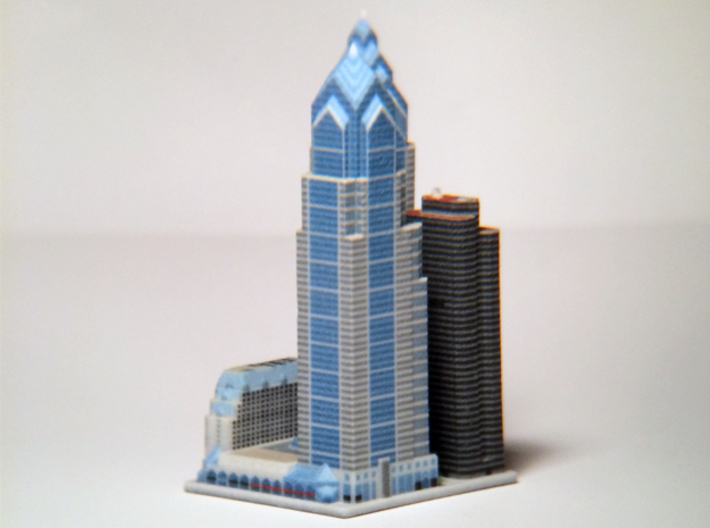 Liberty Place at 1600 Market St - Phladelphia, PA 3d printed 3d printed block, from the Southeast.
