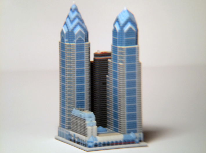 Liberty Place at 1600 Market St - Phladelphia, PA 3d printed 3d printed block, from the southwest.