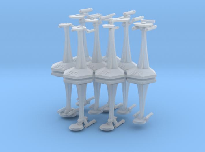 MicroFleet TOS Coalition Heavy Battlegroup (16pcs) 3d printed