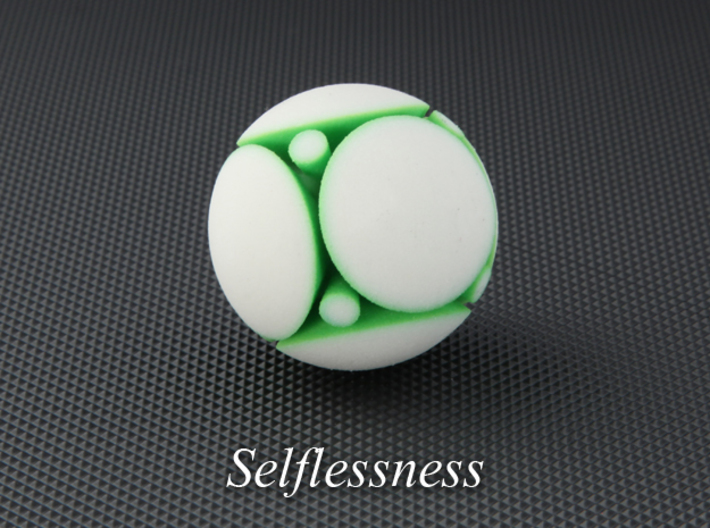 LuminOrb 1.2 - SELFLESSNESS 3d printed Photograph of SELFLESSNESS in Full Color Sandstone