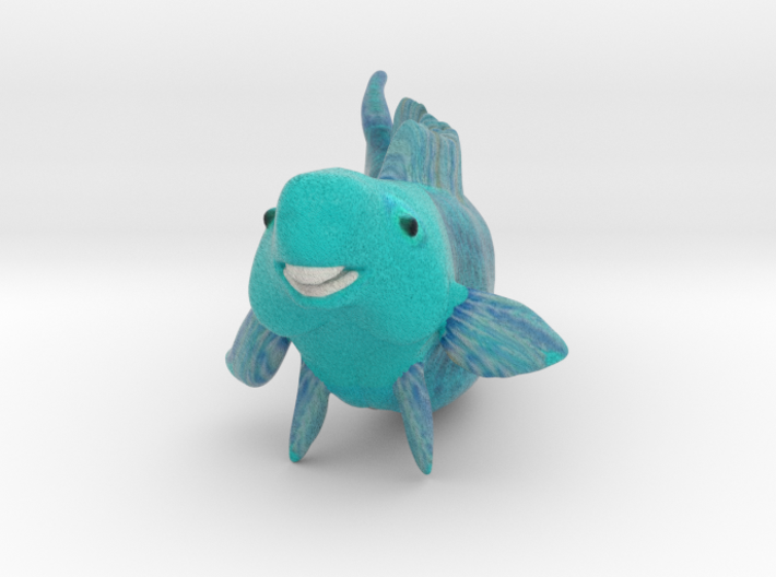 Blue Parrot Fish 3d printed