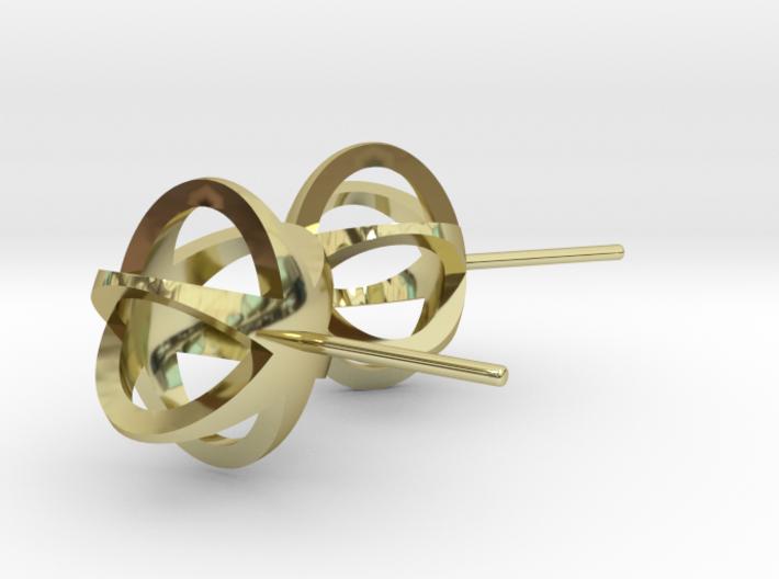 3D STAR GLITZ STUD EARRINGS 3d printed